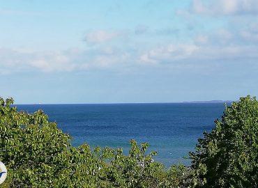 Blick vom Balkon auf die Ostsee.