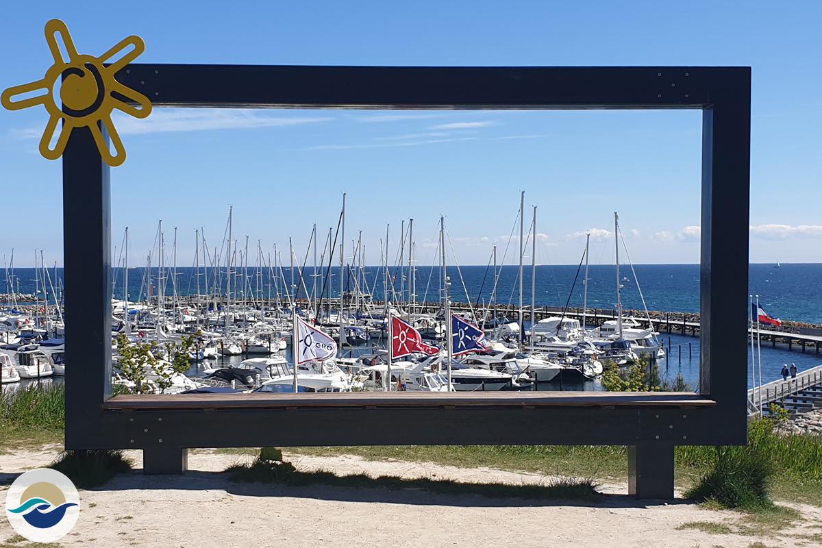 Yachthafen Grömitz Bilderrahmen